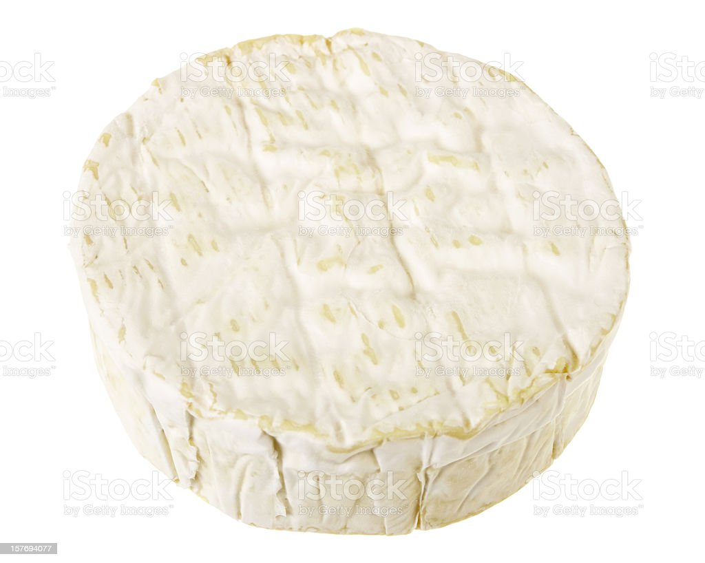 Whole Camembert Cheese Isolated On White stock photo