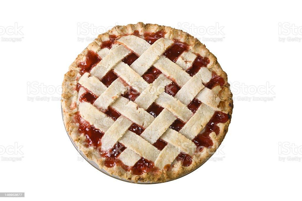 Whole Cherry Pie stock photo
