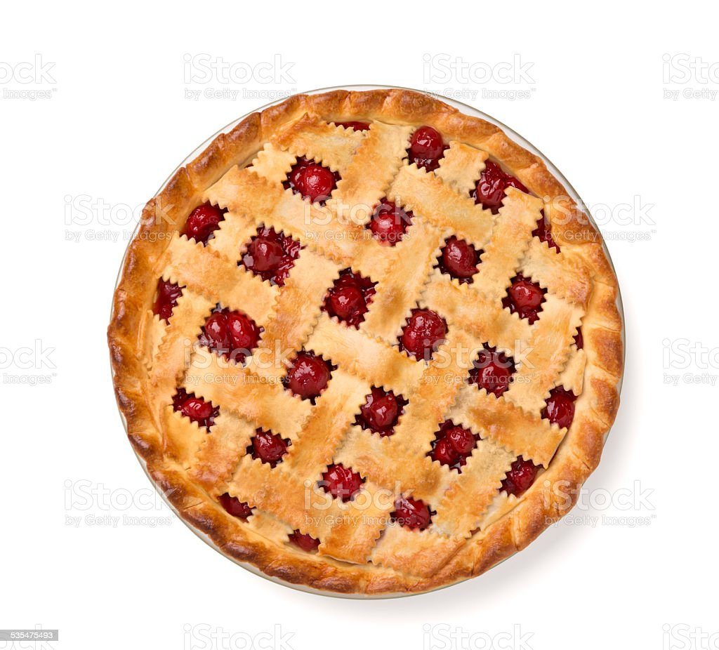 Whole Cherry Pie stock photo