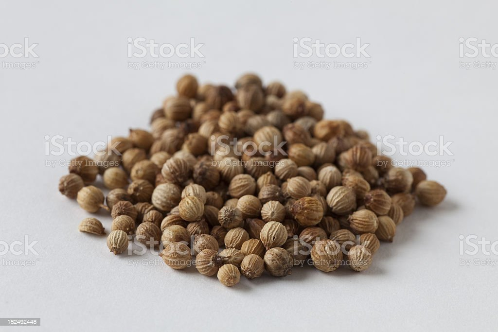 whole coriander seeds royalty-free stock photo