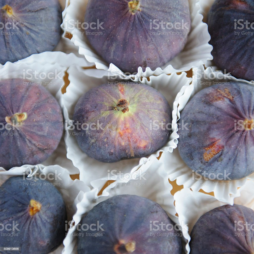 Whole Figs shot from above stock photo