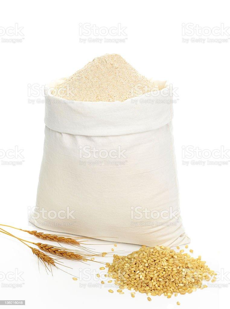 Whole flour stock photo