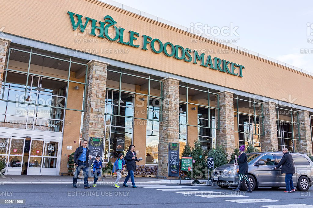 Whole Foods Market store facade stock photo
