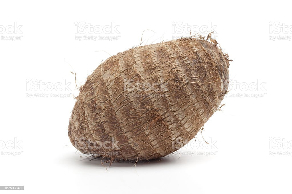 Whole fresh hairy taro royalty-free stock photo