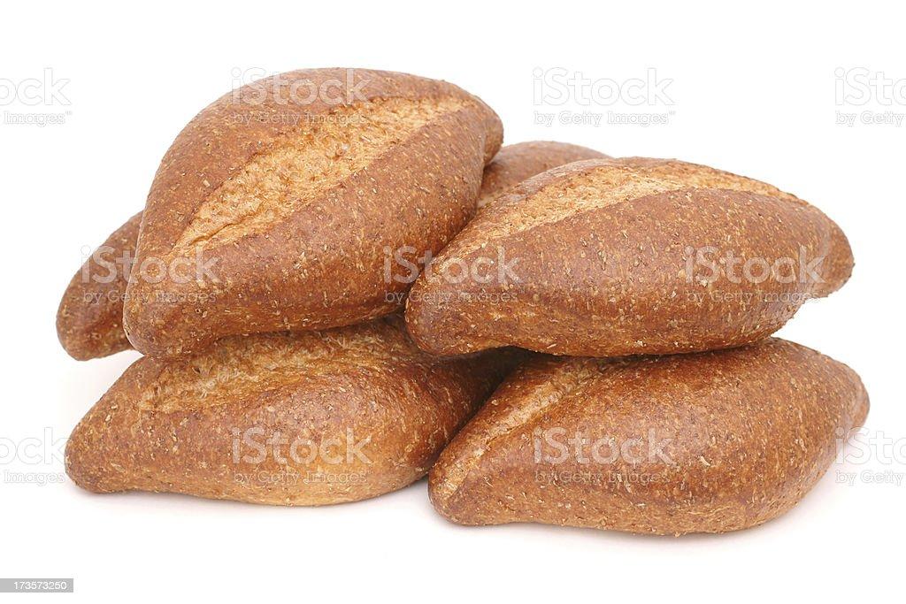 whole grain bolillo rolls royalty-free stock photo