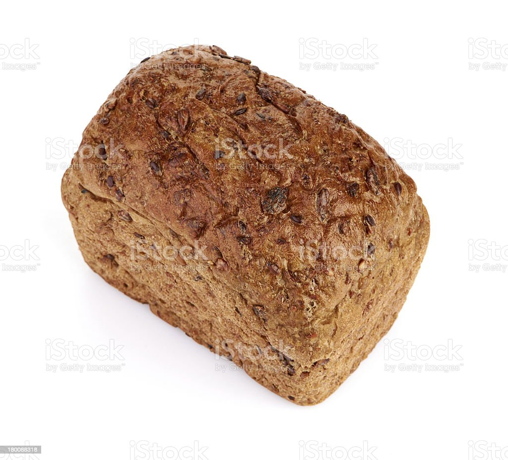 whole grain bread isolated on white background royalty-free stock photo