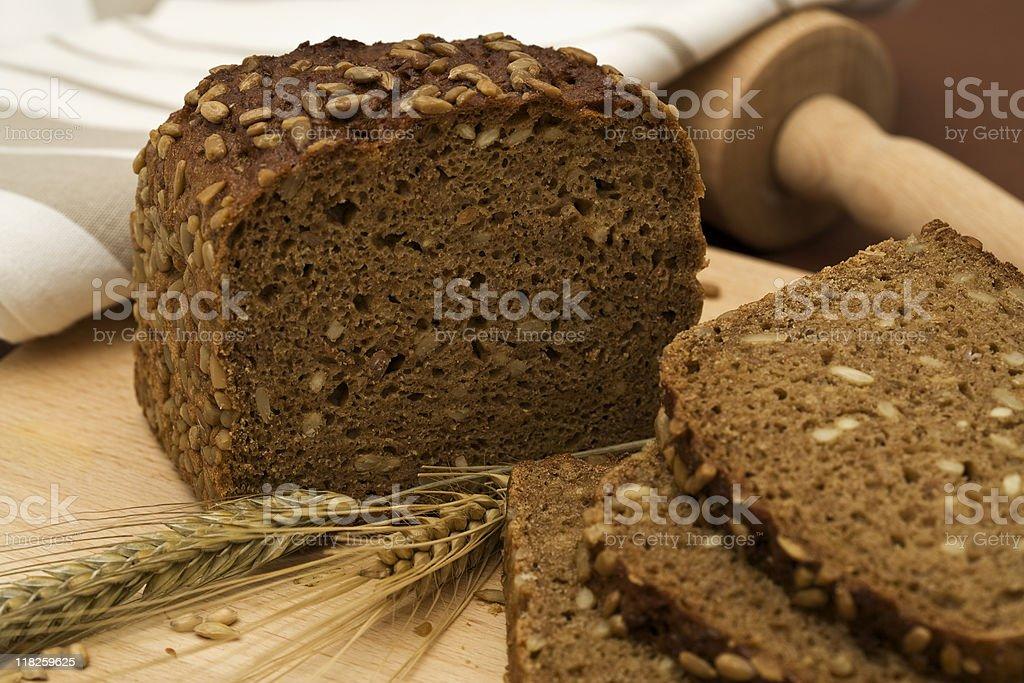 whole grain bread still-life stock photo
