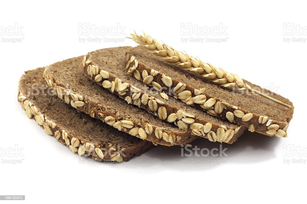 whole grain brown bread royalty-free stock photo