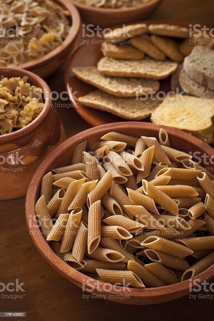 Whole grain carbohydrates royalty-free stock photo