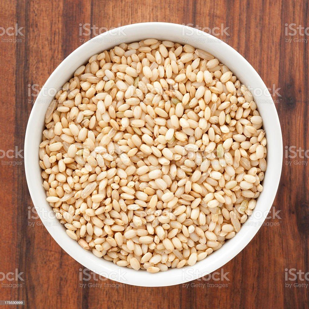 Whole grain mochi rice stock photo