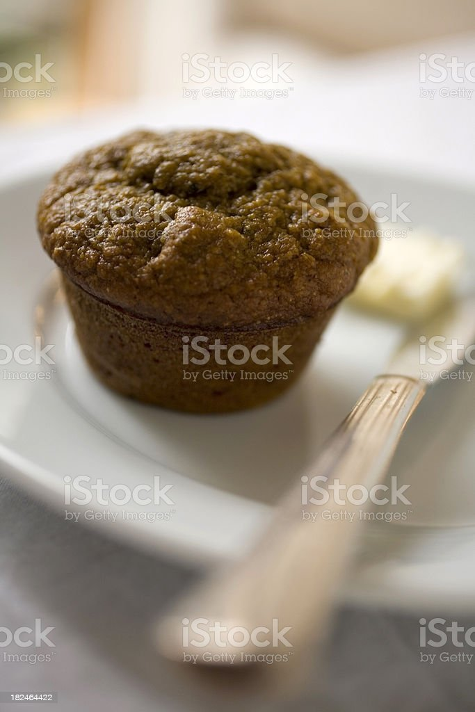 Whole grain muffin stock photo