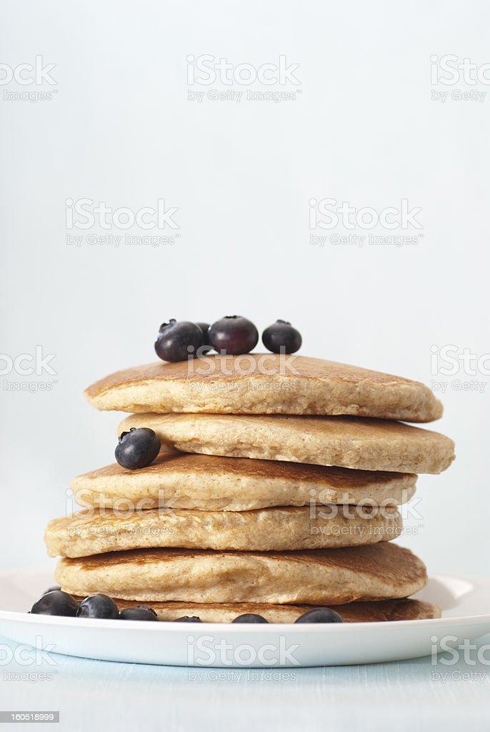 Whole Grain Pancakes royalty-free stock photo
