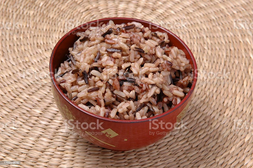 Whole Grain Rice stock photo