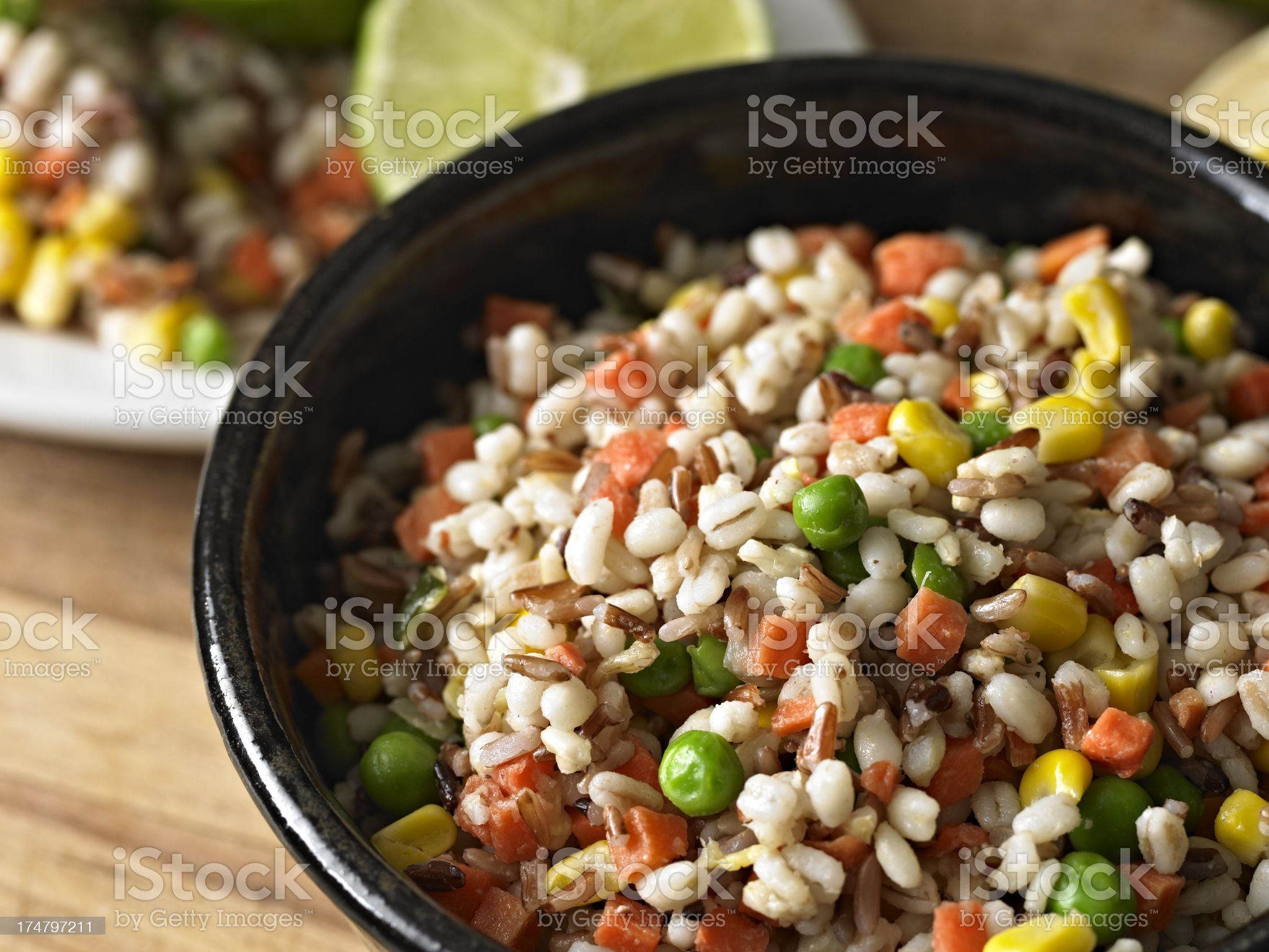Whole Grains and Veggies royalty-free stock photo
