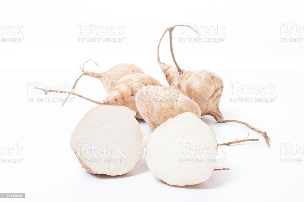 Whole Jicama isolated stock photo
