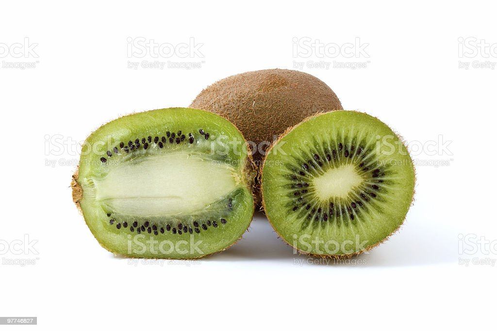 kiwi total e fatias foto de stock royalty-free