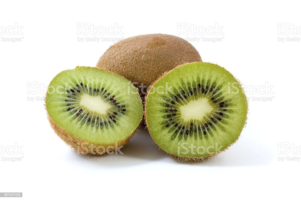 kiwi total e fatias foto de stock royalty-free