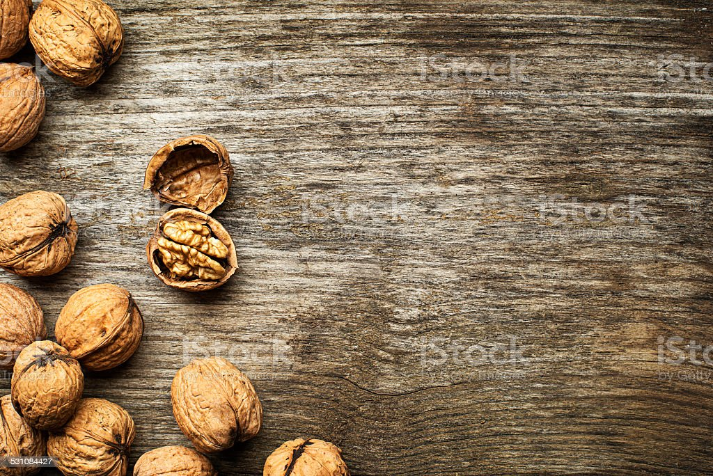 Whole nuts stock photo