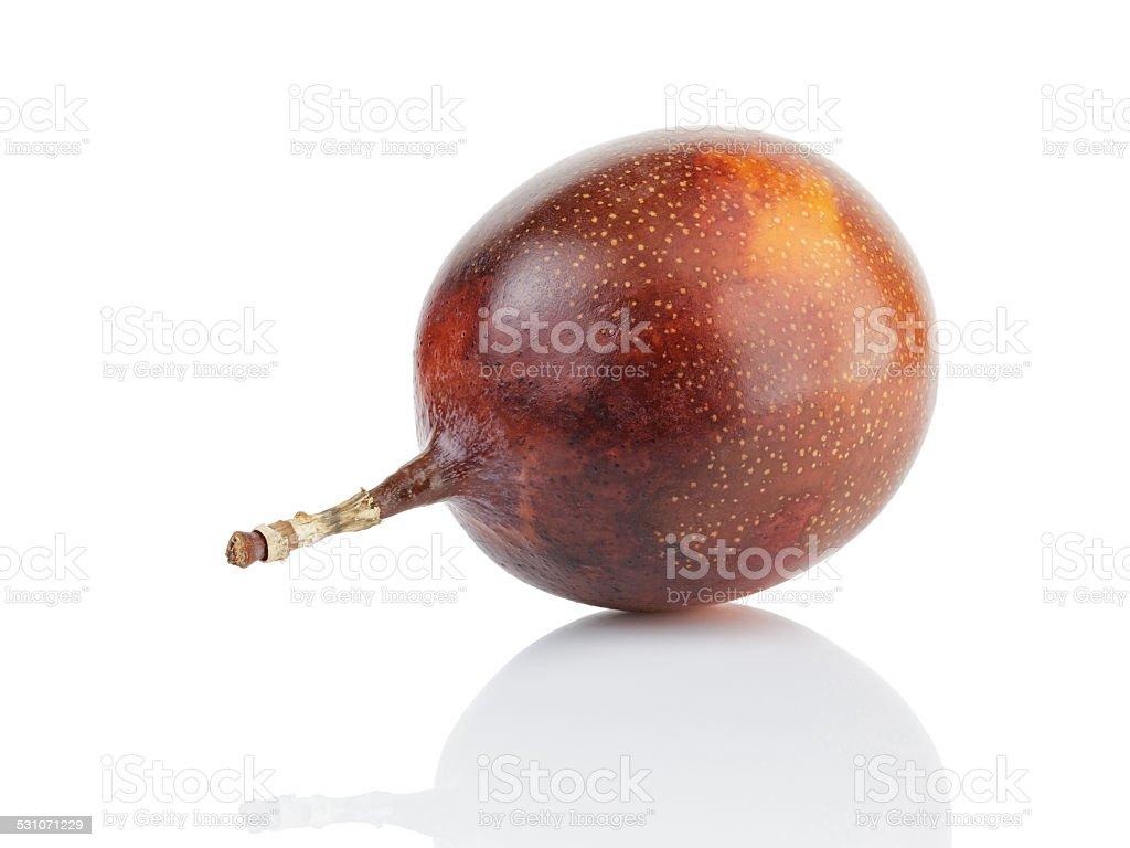 whole passion fruit granadilla stock photo