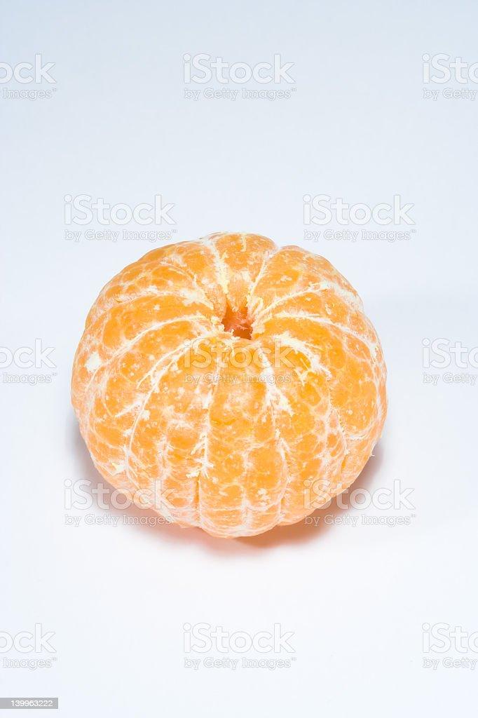 Whole peeled mandarin stock photo