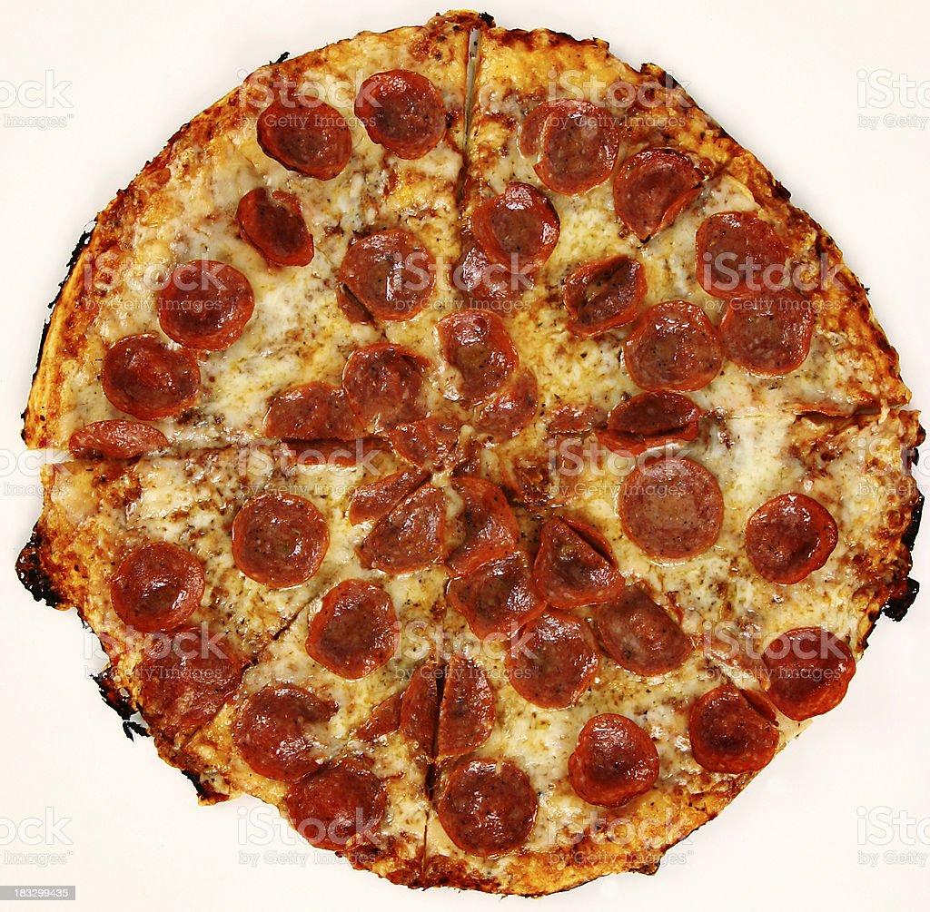 whole pepperoni pizza #2 royalty-free stock photo