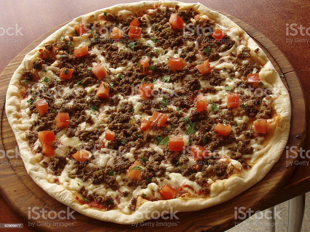Gesamte pizza Lizenzfreies stock-foto