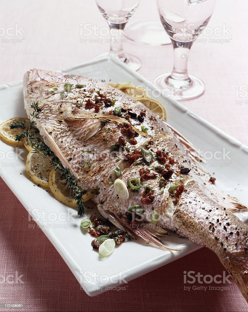 Whole Red Snapper royalty-free stock photo