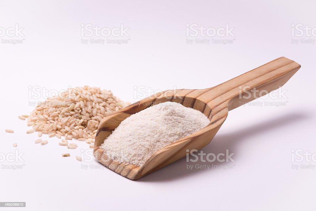 Whole rice flour stock photo