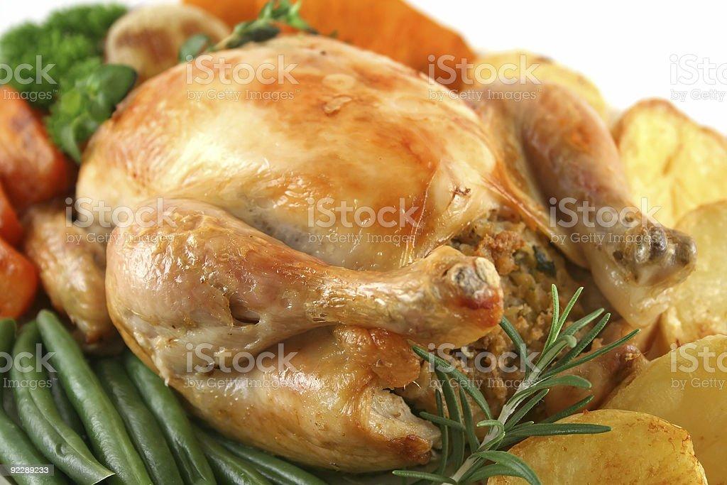 Whole Roast Chicken royalty-free stock photo