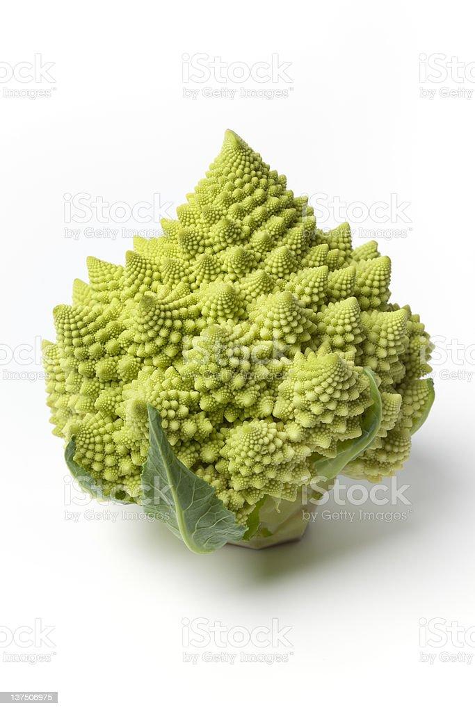 Whole Romanesco cabbage royalty-free stock photo