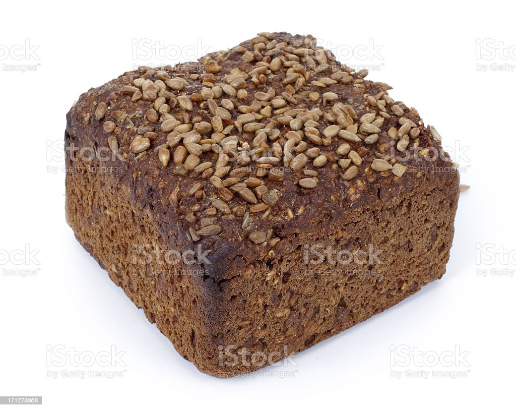 Whole Rye Bread on white background royalty-free stock photo