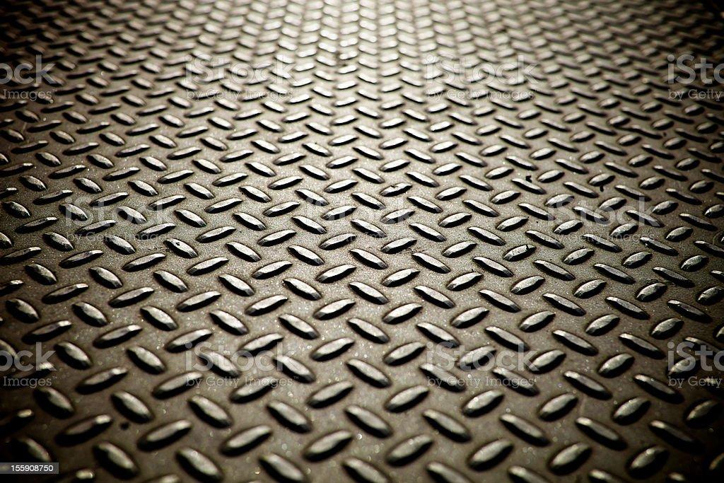 Whole screen view of metal diamond plate flooring. stock photo