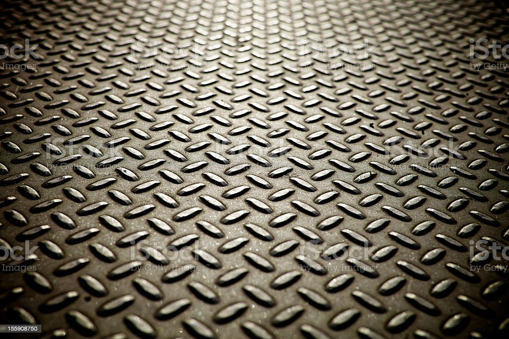 Whole screen view of metal diamond plate flooring. stock photo