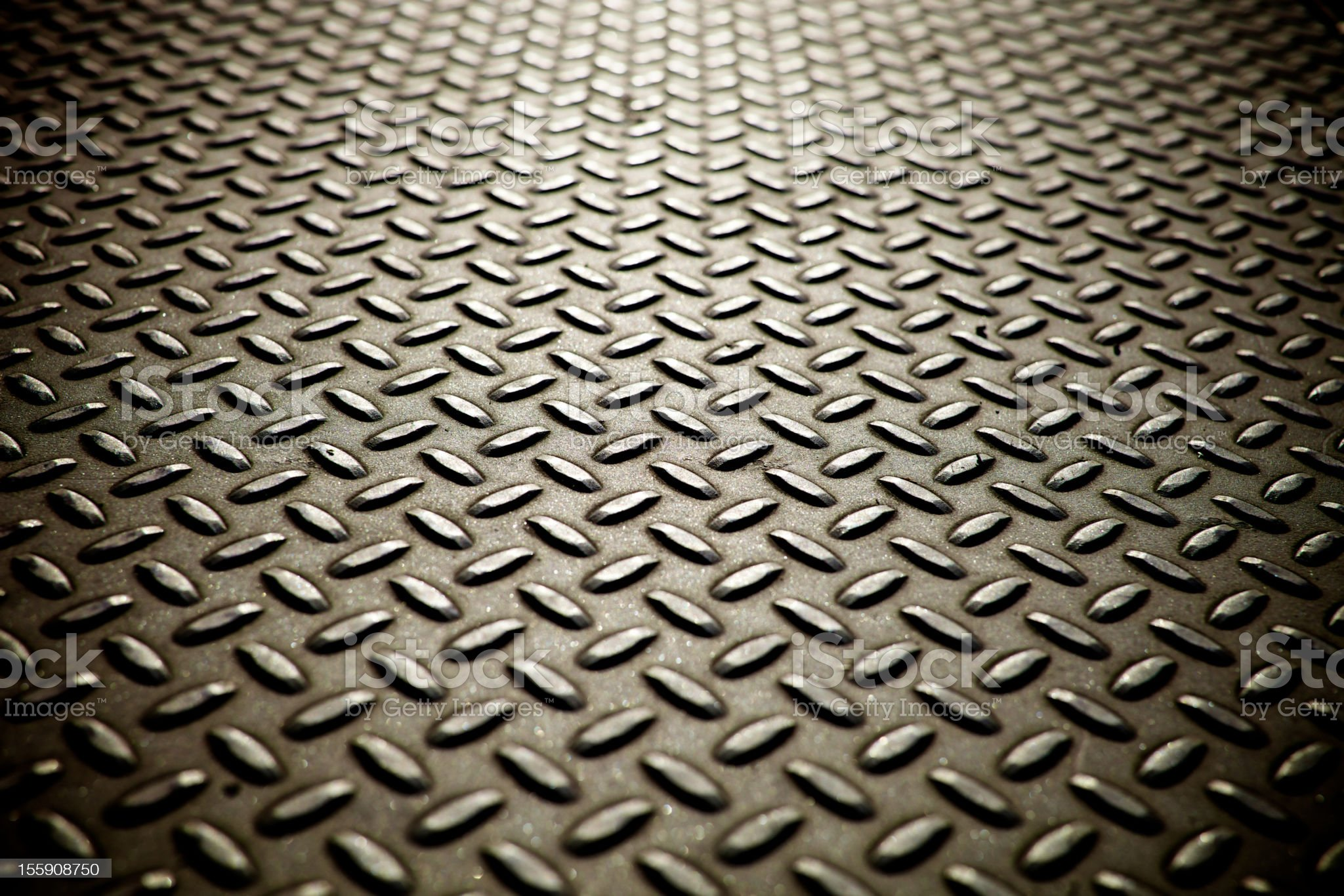 Whole screen view of metal diamond plate flooring. royalty-free stock photo