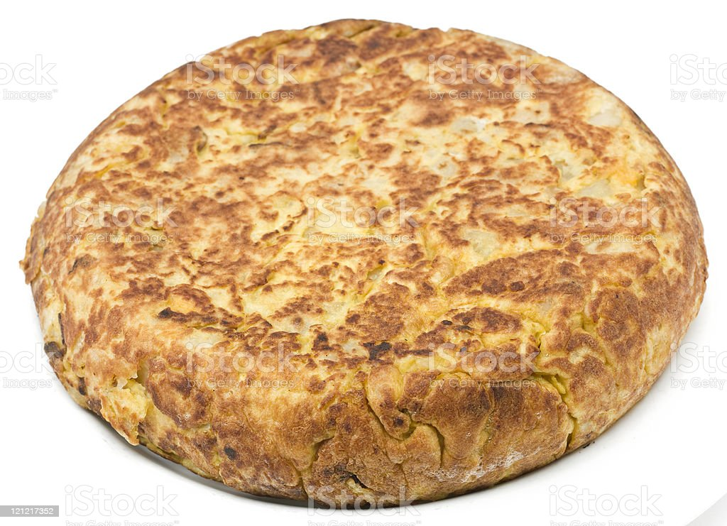 Whole spanish Omelet royalty-free stock photo