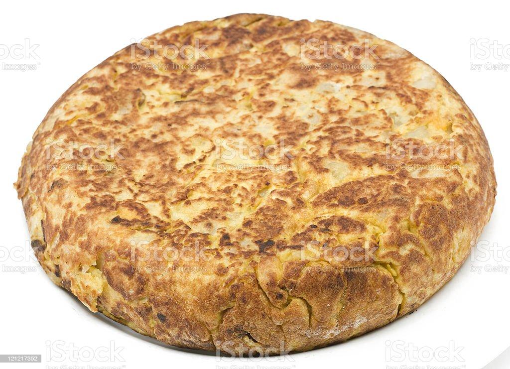 Whole spanish Omelet stock photo