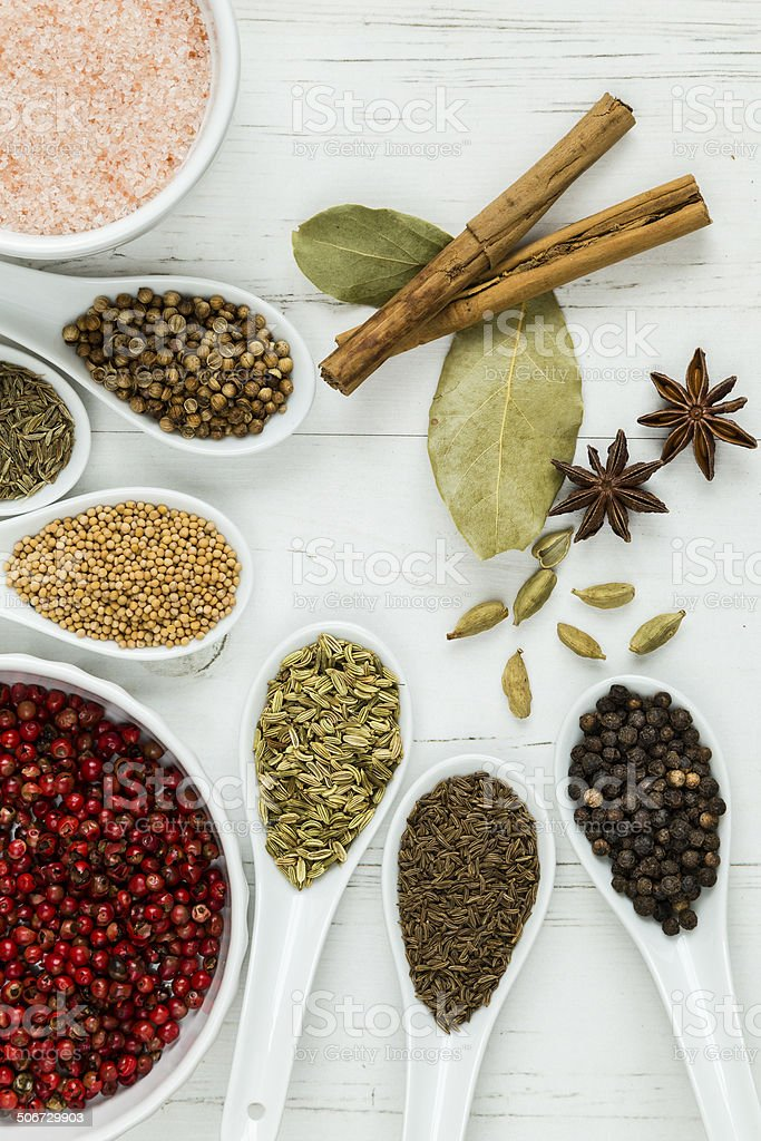 Whole spices and seeds royalty-free stock photo