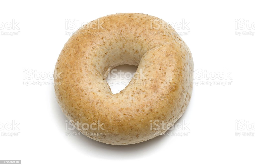 Whole Wheat Bagel royalty-free stock photo