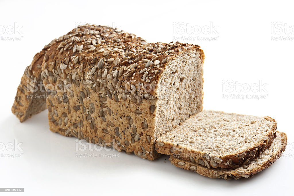 Whole Wheat Bread With Seeds stock photo