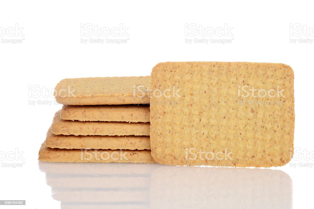 whole wheat cookie stock photo