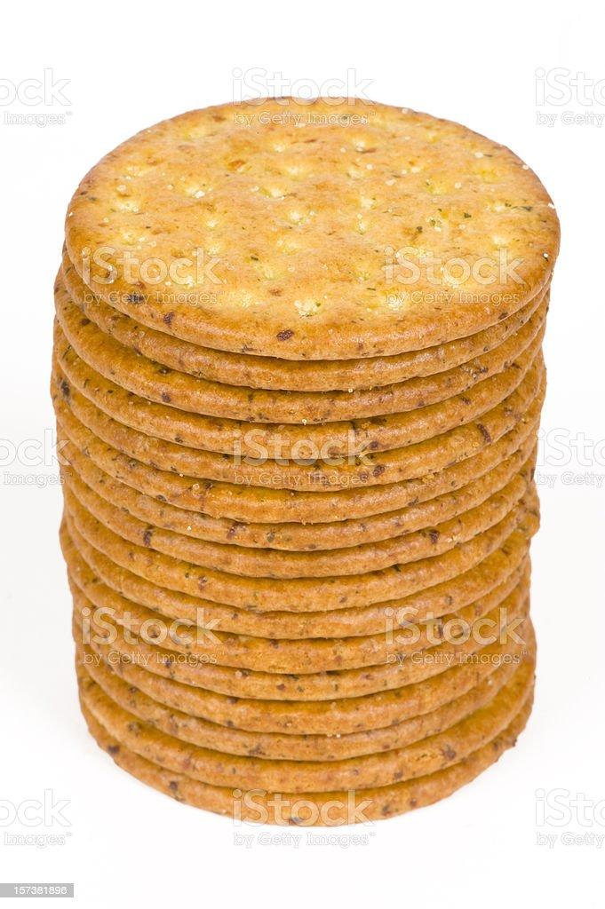 Whole wheat crackers royalty-free stock photo