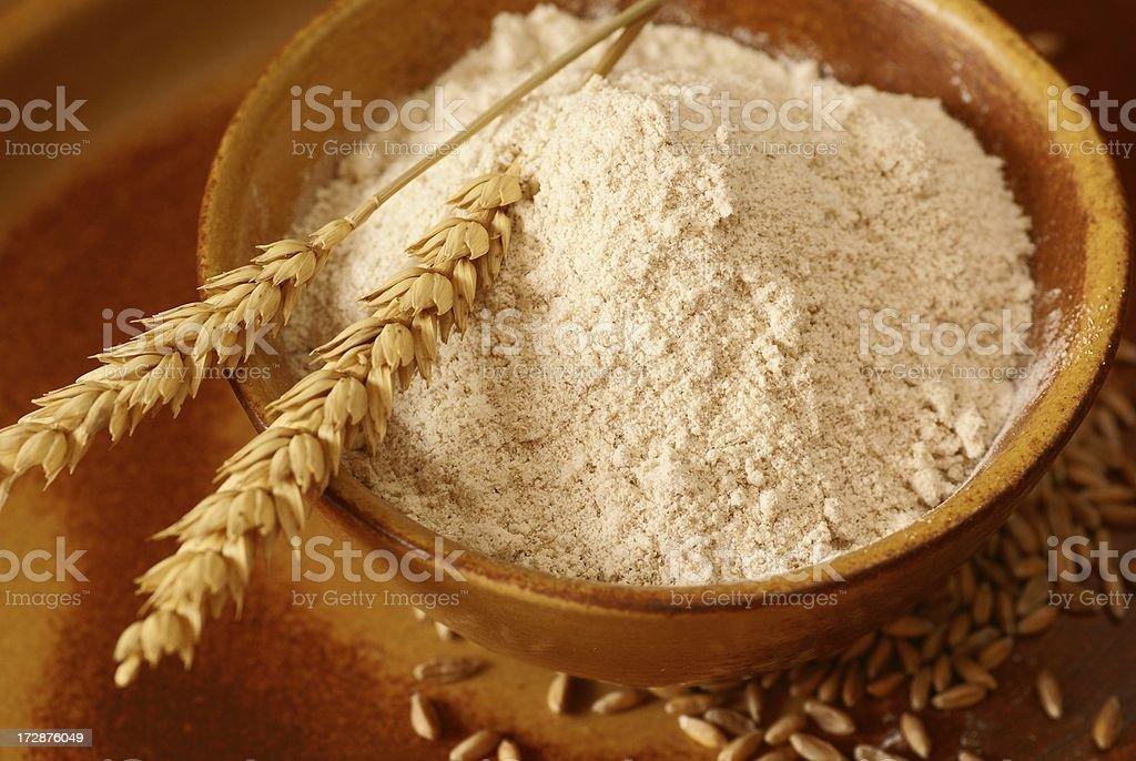 Whole wheat flour stock photo