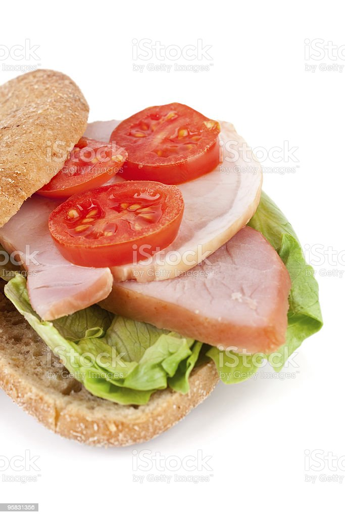whole wheat healthy sandwich royalty-free stock photo