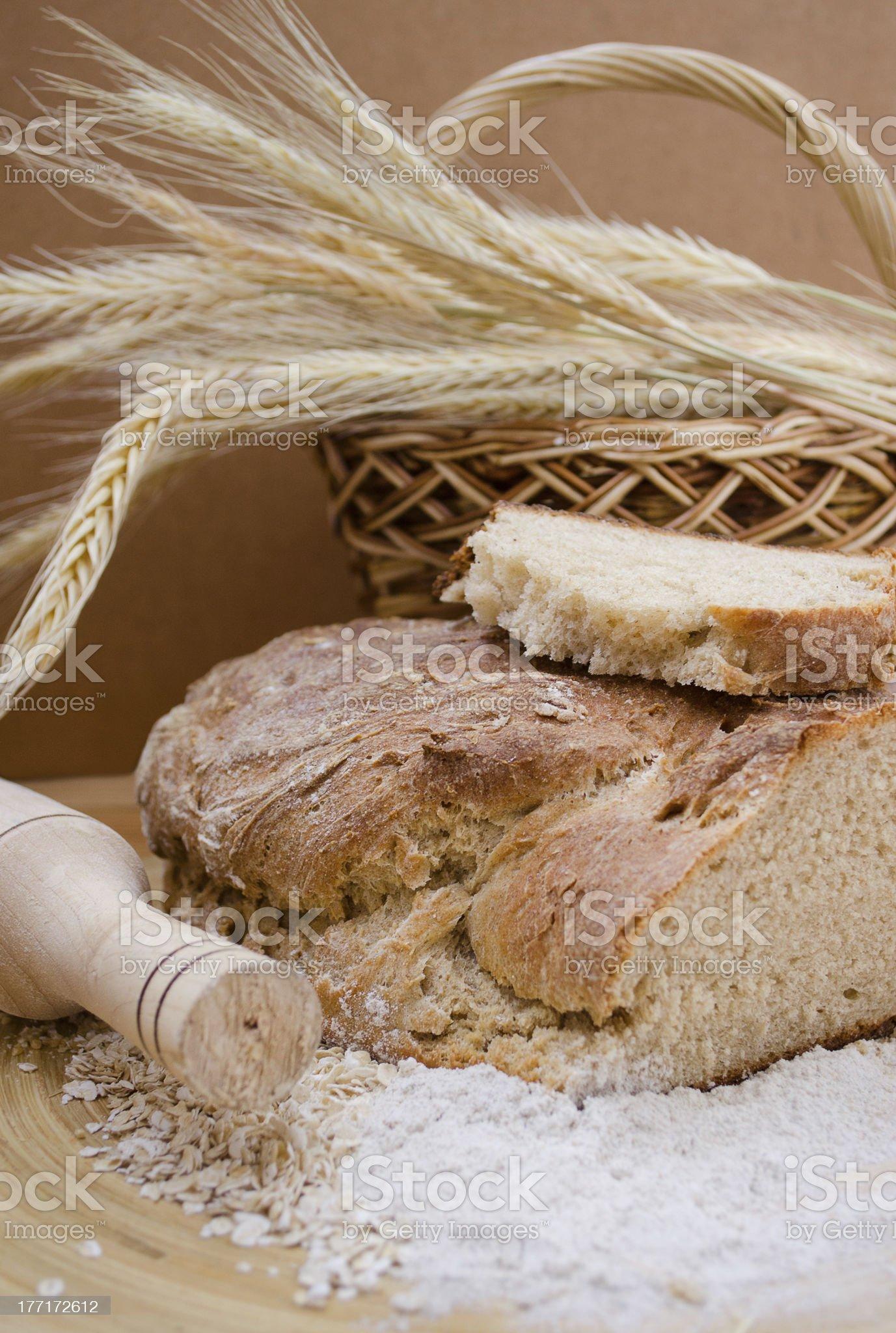 whole wheat homemade bread royalty-free stock photo