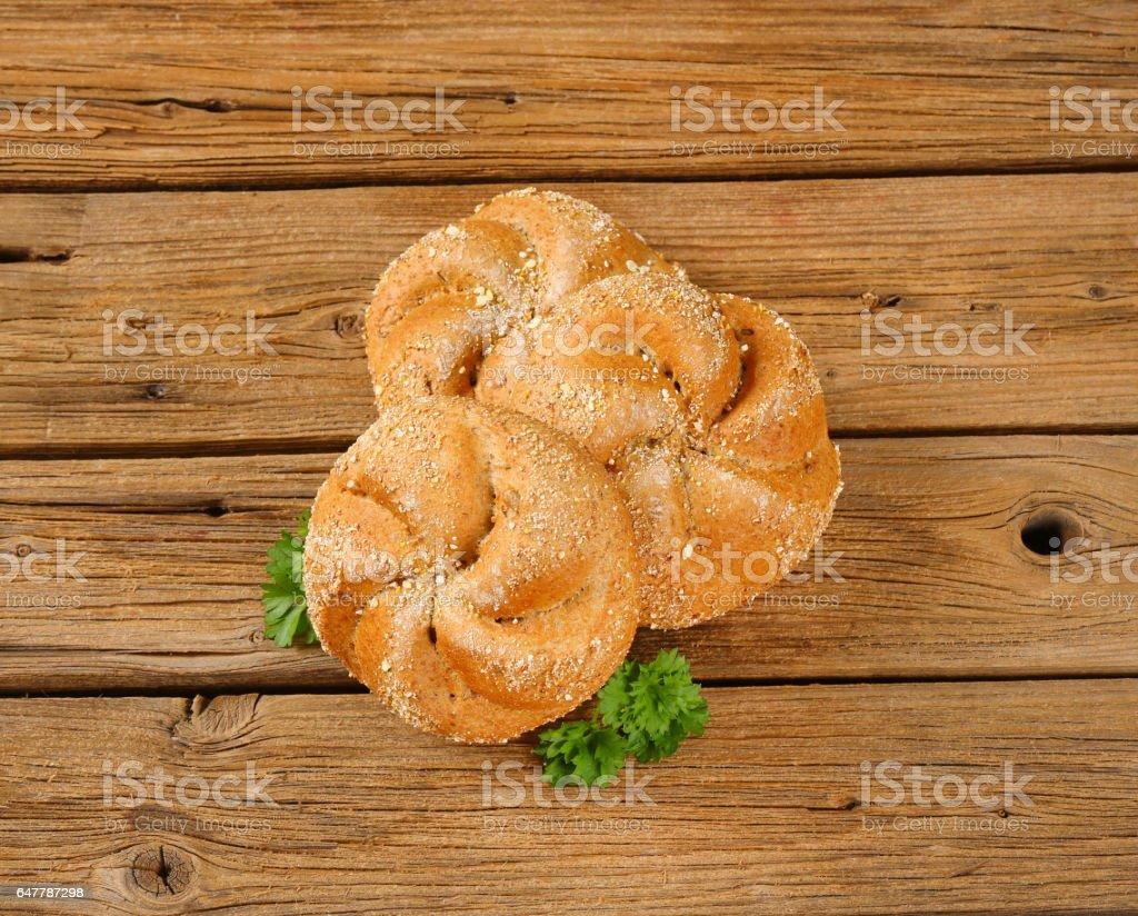 whole wheat Kaiser rolls stock photo