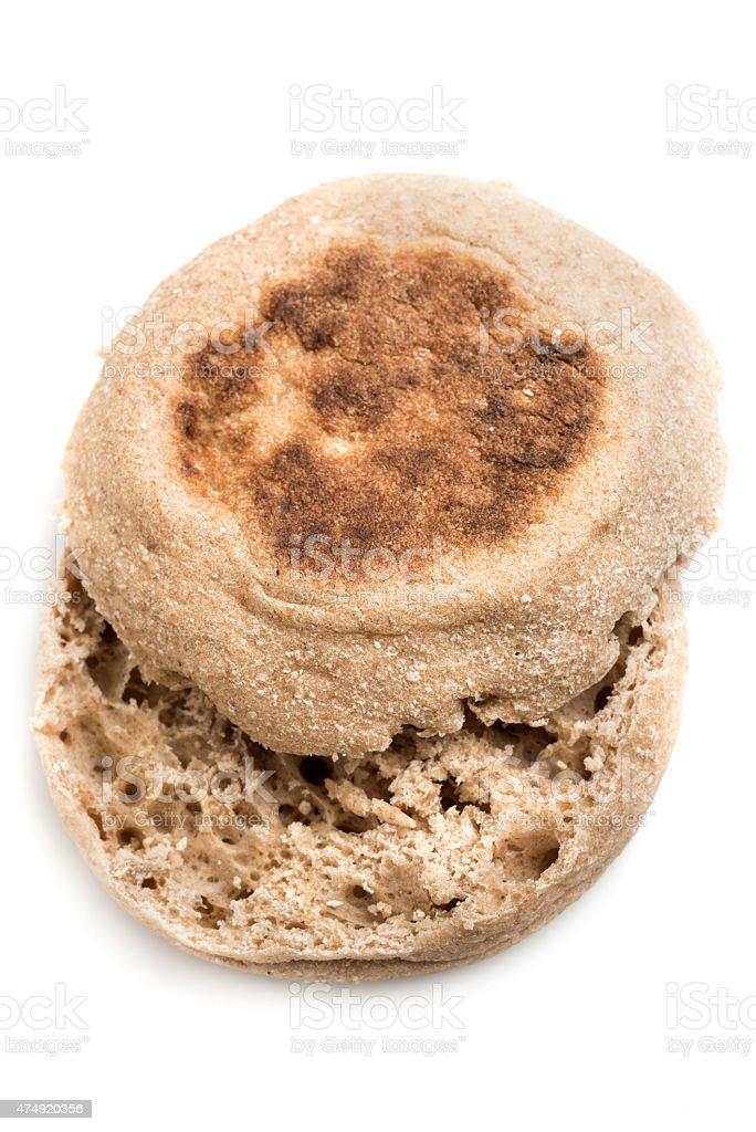 Whole Wheat Organic English Muffin stock photo