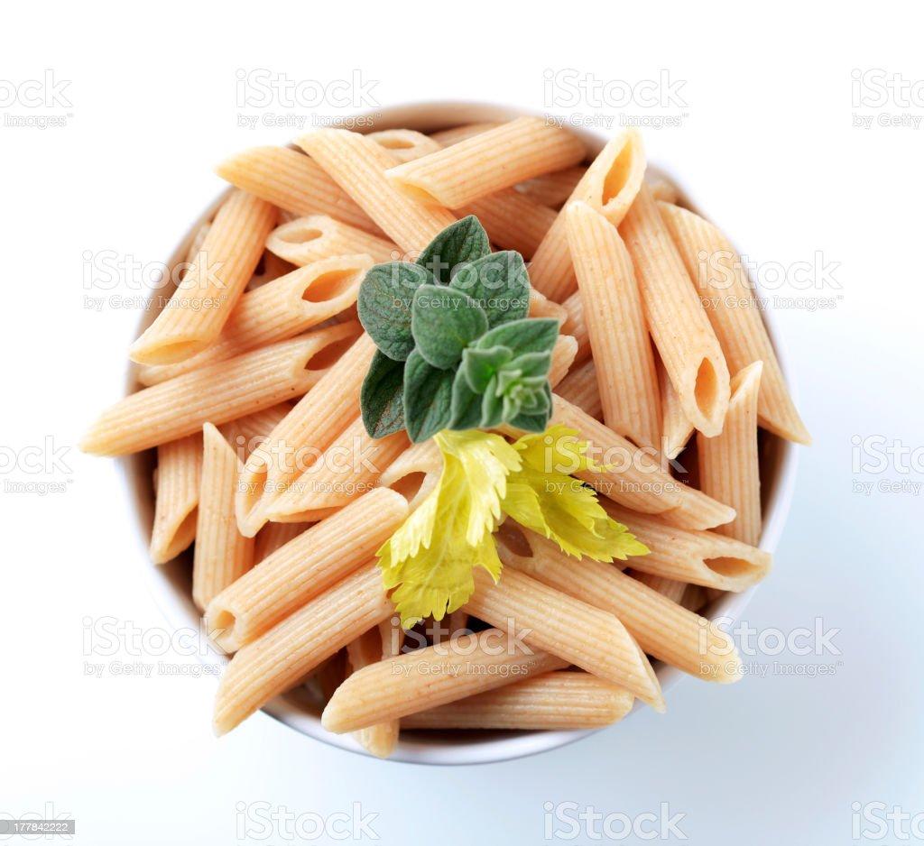 Whole wheat pasta royalty-free stock photo