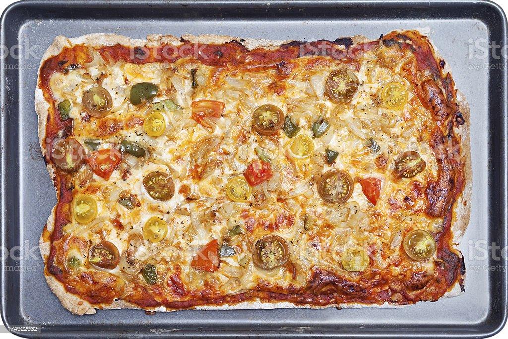 Whole Wheat Pizza royalty-free stock photo