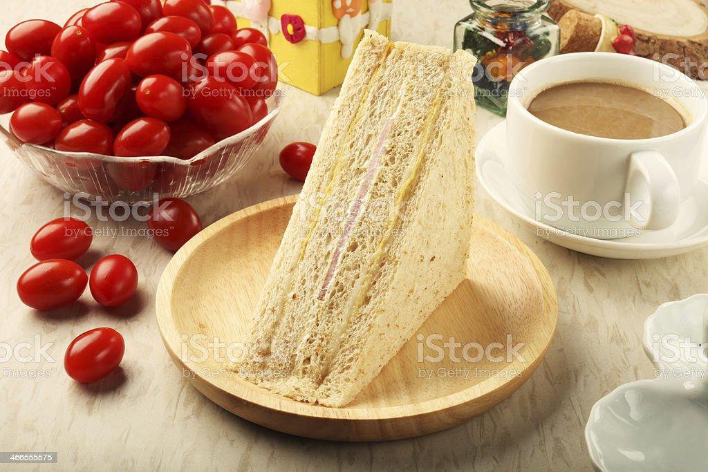 Whole wheat sandwich royalty-free stock photo