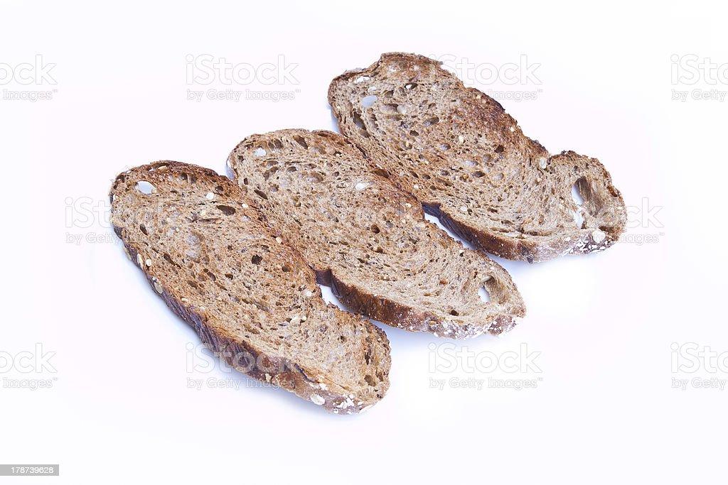 Whole wheat  toasts royalty-free stock photo